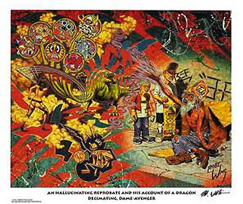Image of Robert Williams 'An Hallucinating Reprobate...' signed lithograph