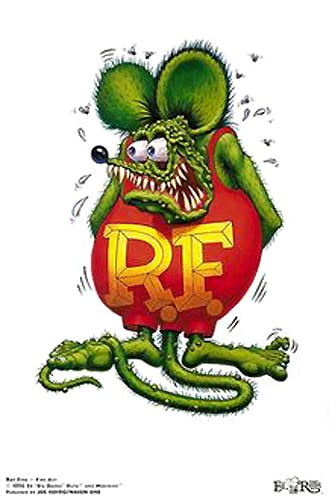 """Image of Ed """"Big Daddy"""" Roth 'Rat Fink The Poster' signed Lithograph"""