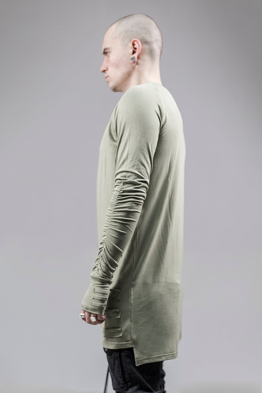 Image of Urban Flavours Mental Extended Long Sleeve Khaki