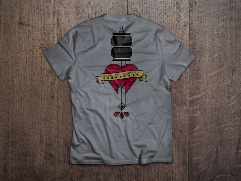 Image of Air Strut Dagger Pocket Tee - Grey ***PRE ORDER***
