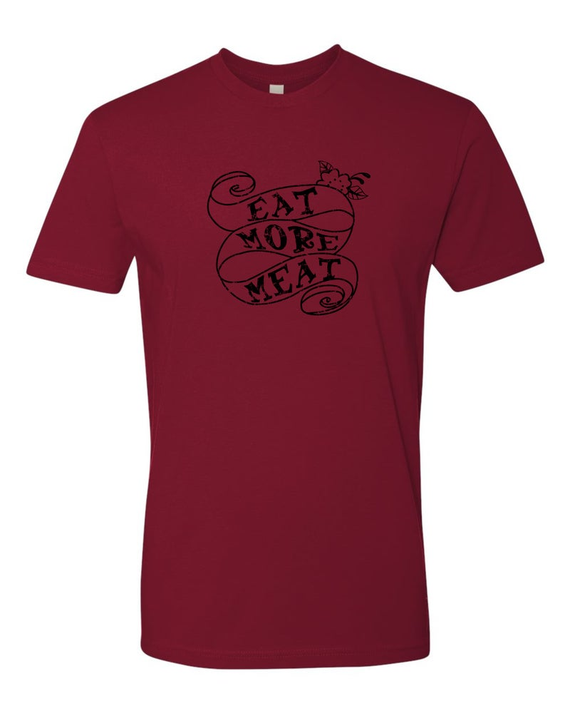 Image of Eat More Meat - Unisex T-Shirts - Cardinal or Heavy Metal
