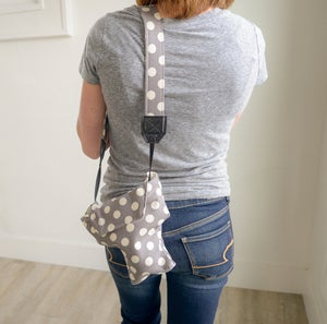 Image of Top DSLR Camera Cover | Cute Gray Polka Dots Padded Camera Coat Free US Shipping