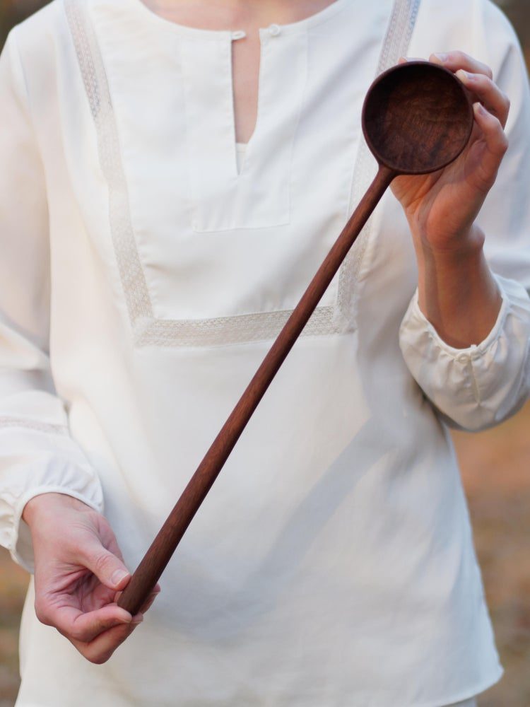 Image of Elam Serving Spoon - Walnut