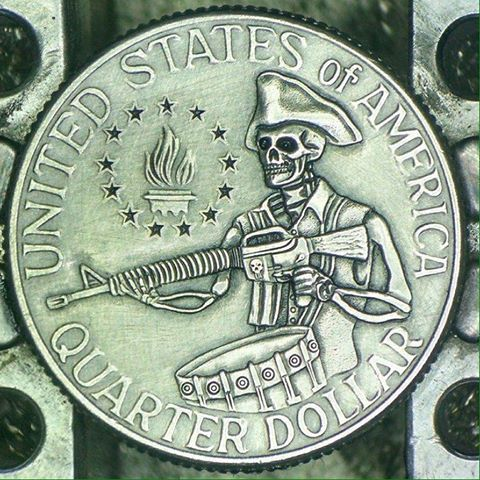 Image of Bicentennial Quarter AR15 Skeleton