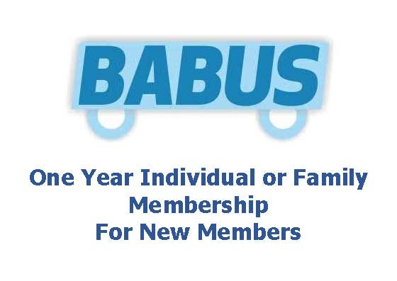 Image of New BABUS Membership - Family or Individual - for one year to 31st March 2019