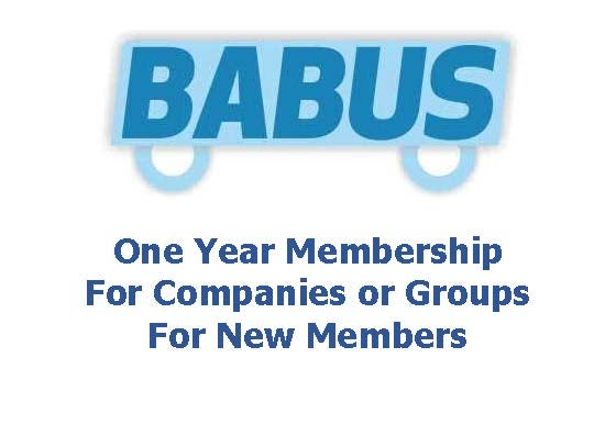 Image of New BABUS Membership - Companies or Groups - for one year to 31st Marh 2019