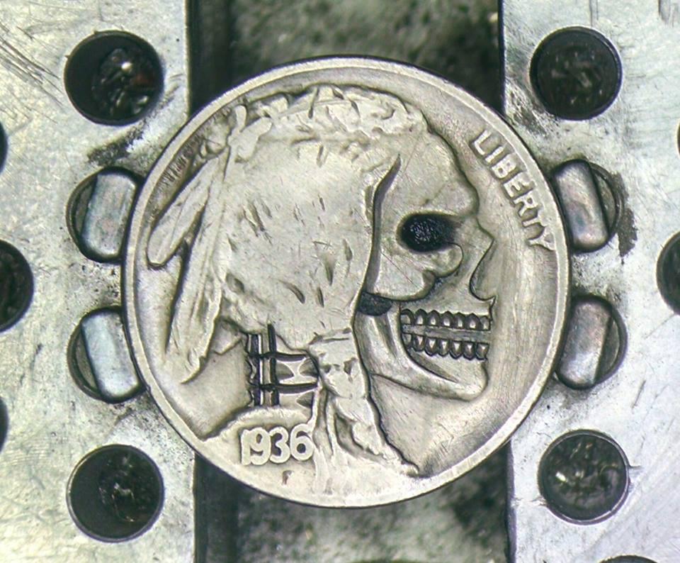 Image of Open Jaw Skull Buffalo Nickel