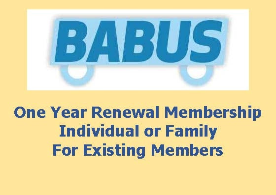 Image of Renewal BABUS Membership - Family or Individual - for one year to 31st March 2019