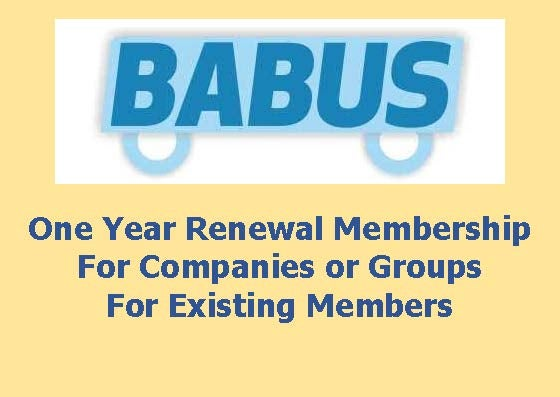 Image of Renewal BABUS Membership - Companies or Groups - for one year to 31st March 2019