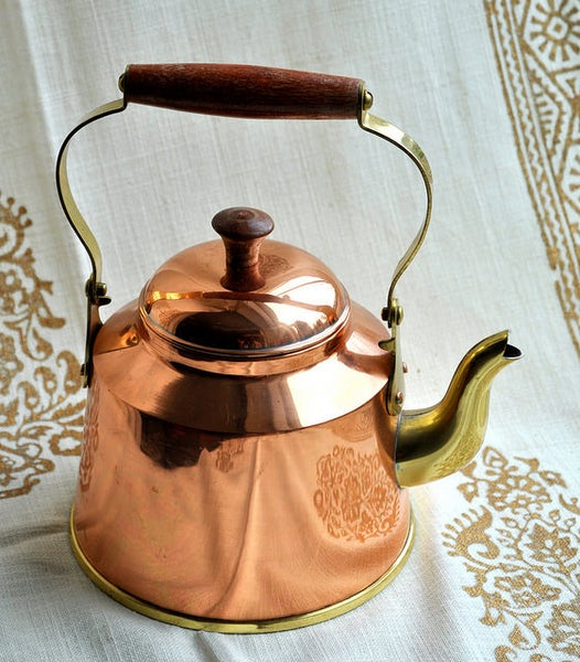 Image of Vintage Dutch Portuguese Copper Kettle