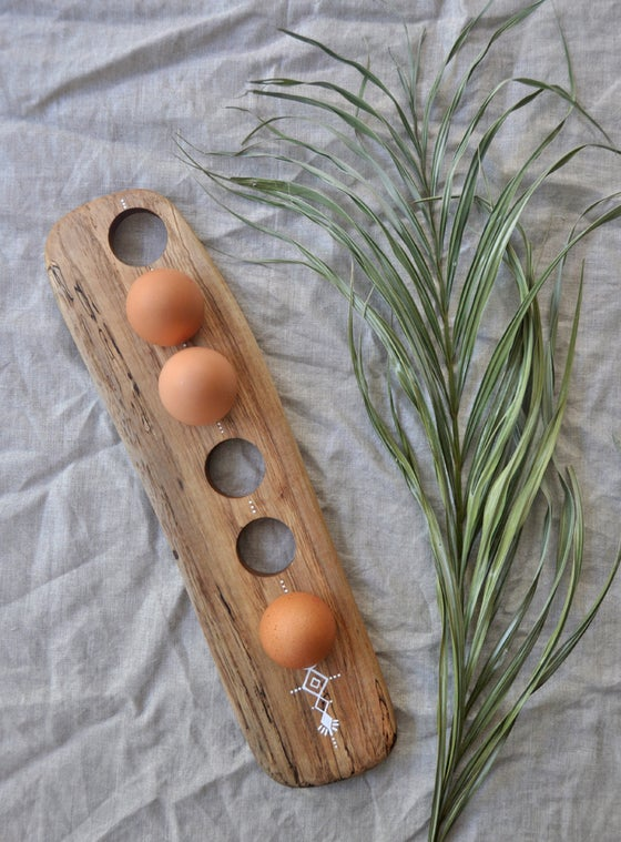Image of #2 | Reclaimed Spalted Pecan 1/2 Dozen Egg Board