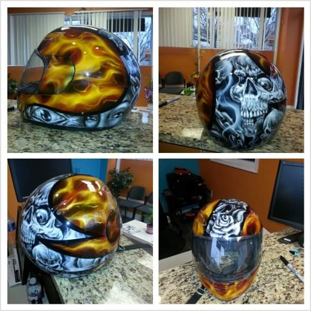 Image of Custom Helmet Art