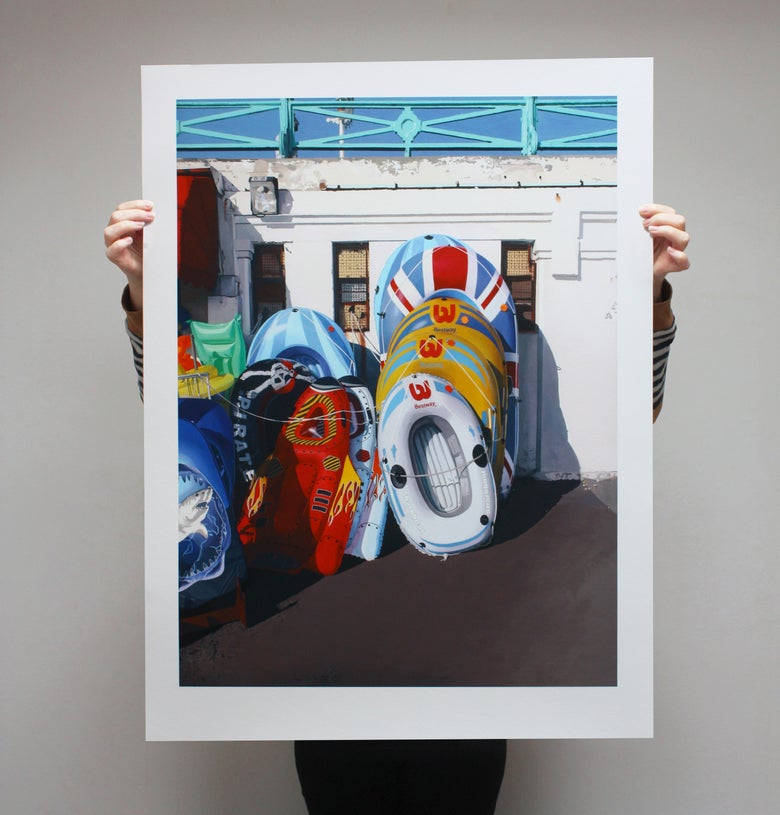 Image of 'Dinghies II' - Limited Edition Print - 90cm x 67.5cm