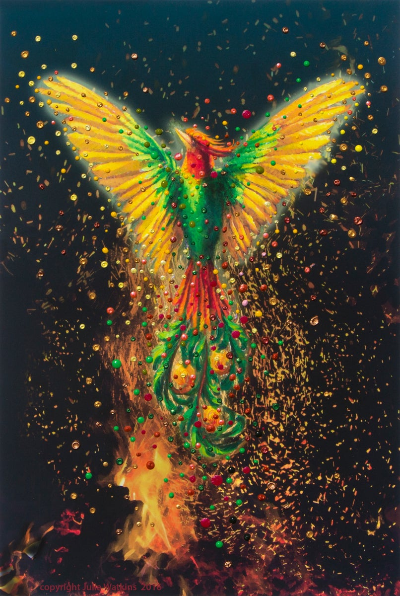 The Energy Art Store By Julia Watkins Phoenix Rising Energy Painting