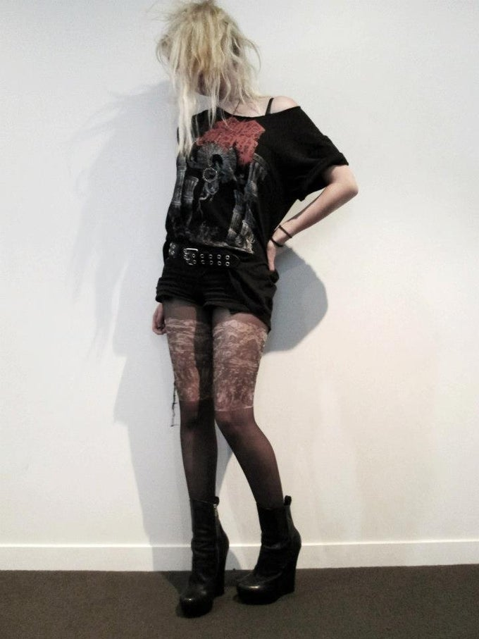 Image of Whore of Babylon - Tattoo tights.