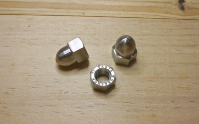 Image of Ti Parts Workshop 1/2 Speed Rear Wheel Titanium Cap Nut Set