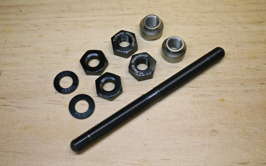 Image of Ti Parts Workshop Titanium Axle for Brompton Front Hubs
