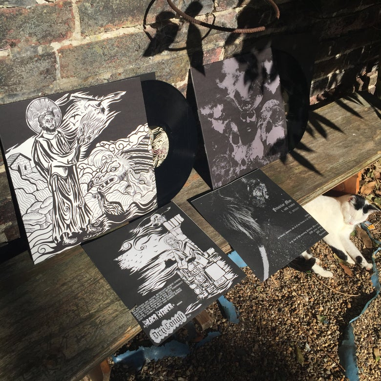 Image of PRIMITIVE MAN / SEA BASTARD split LP