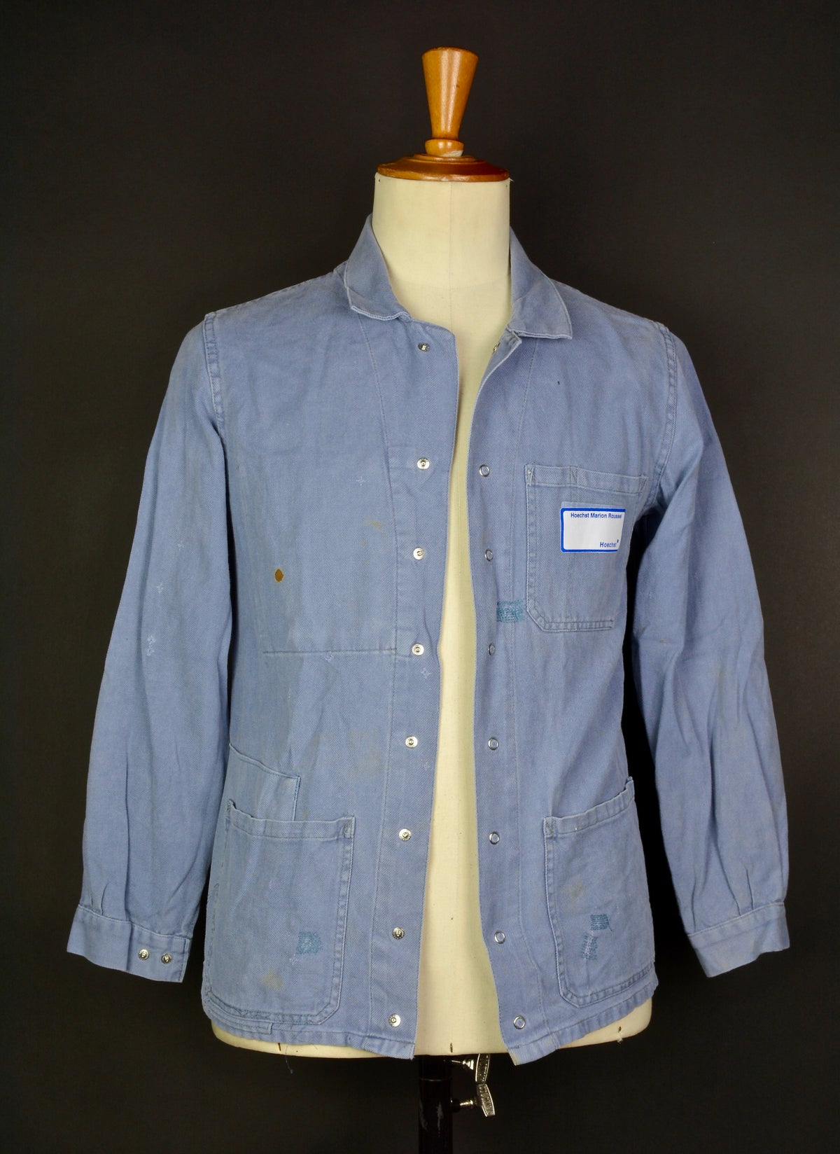 Image of 1960'S FRENCH grey WORK JACKET FADED N2 フレンチコットンワークジャケット