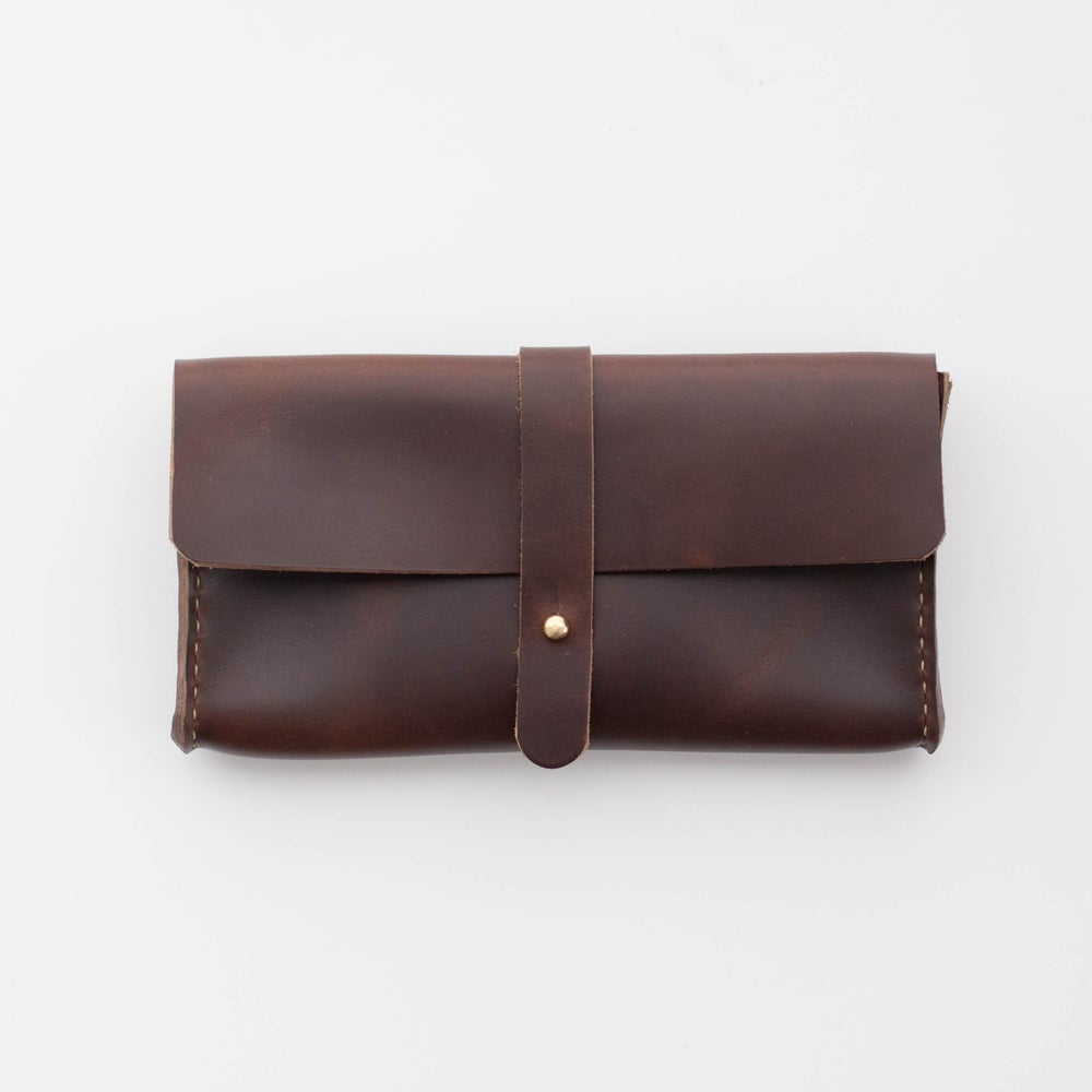 Image of Brown Chromexcel Clutch Wallet