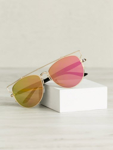 Image of Reflection Sunglasses(Rosegold)