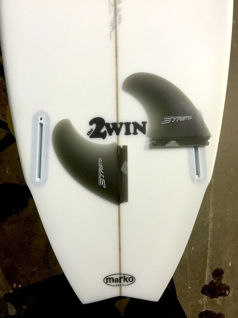 Image of Fins Unlimited Custom Stretch TWIN-FIN template