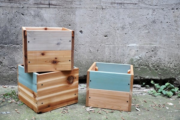Image of Small cedar planters