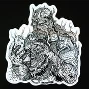 Image of SWAMPY THING Die Cut Sticker