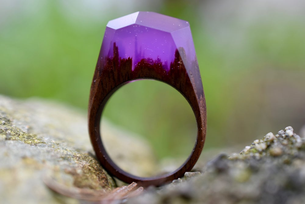 Image of Delicate Dark Amethyst Forest