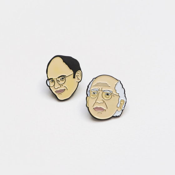 Image of Larry David & George Costanza PINS