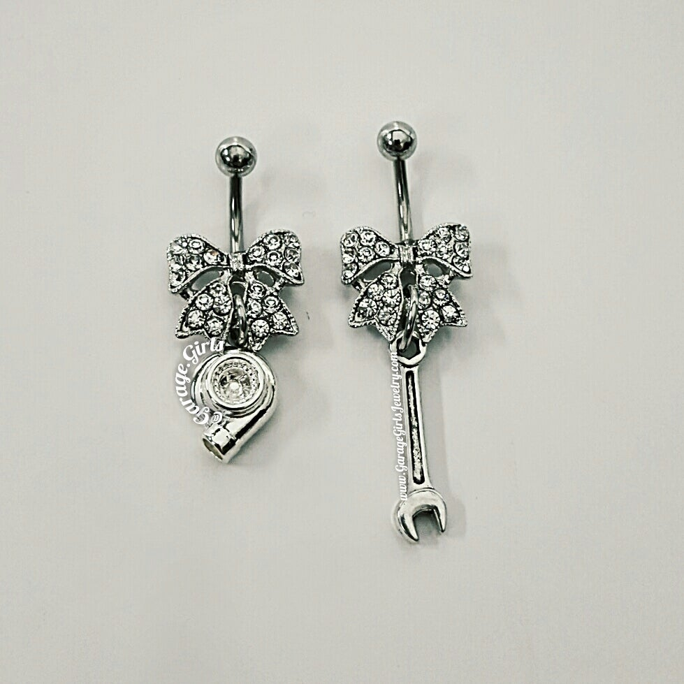 acrylic unique belly steel rings pack cz with as surgical and of flexi pictured design