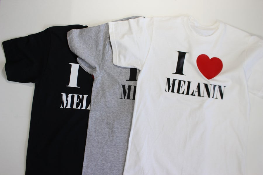 Image of Mens I heart melanin t-shirts