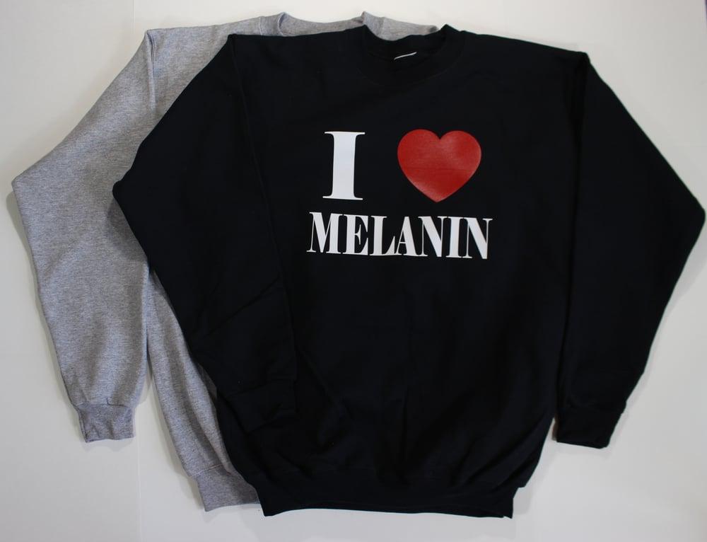 Image of Unisex I heart melanin sweatshirts