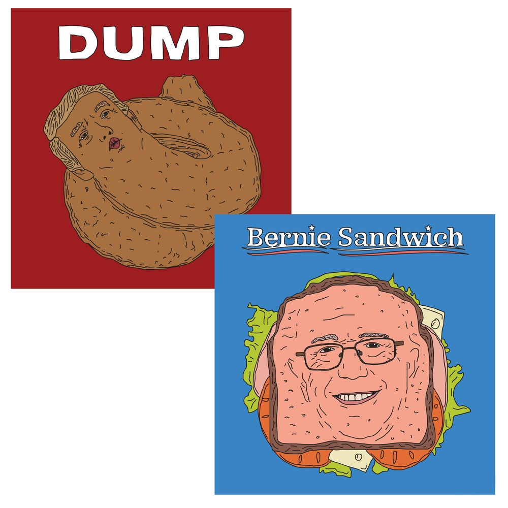 Image of Donald Dump / Bernie Sandwich Prints