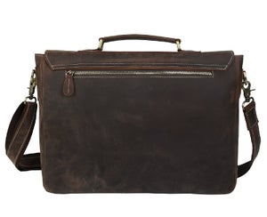 "Image of Men's Handmade Vintage Leather Briefcase / Messenger / 17"" MacBook Pro 16"" Laptop Bag (n14L)"