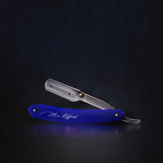 "Image of Mr. Official Signature Line Razor Blade Holder ""Blue"""