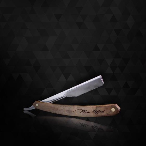"Image of Mr. Official Signature Line Razor Blade Holder ""Rosewood"""