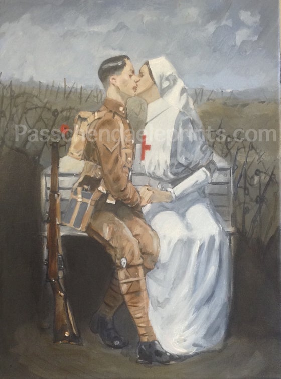 Image of First/Last Kiss Poperinghe ( Original Acrylic on Canvas )