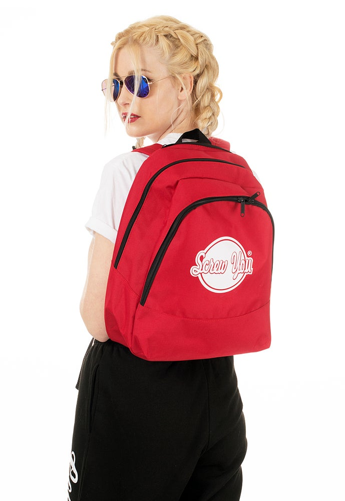 Image of SCREW YOU BRANDED DESIGNER STREET STYLE COOL BACKPACK