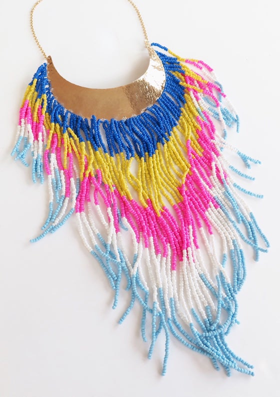 Image of Boho Rainbow Necklace