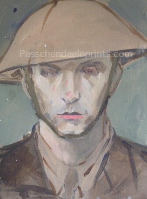 Image of Princess Patricia's Canadian Light Infantry ORIGINAL Study 'After Passchendaele'