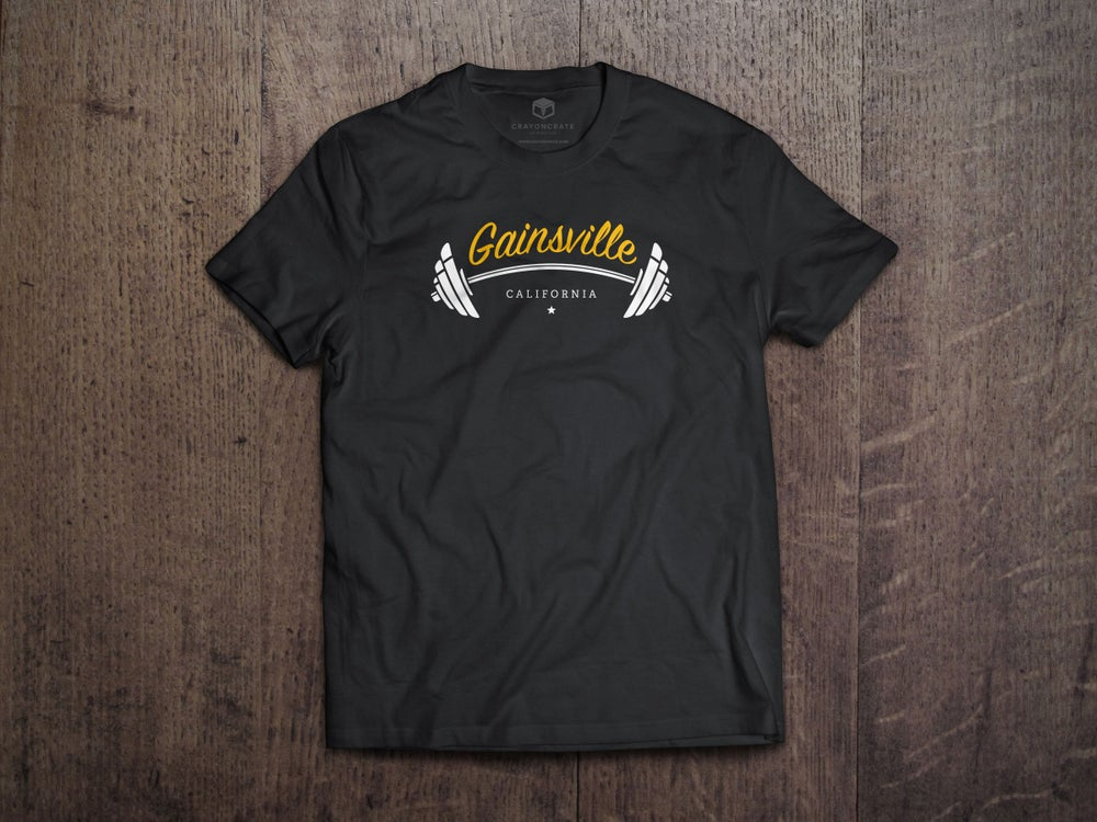 "Image of ""Gainsville"" Tee (black)"