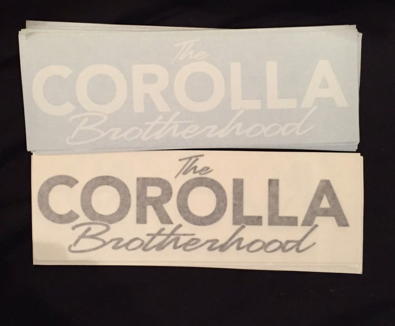 Image of Corolla Brotherhood Cut Sticker