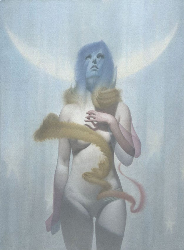 Image of Eric F ortune  'For Us, The Living' original art