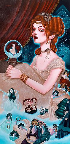 Image of Mia oil painting original art