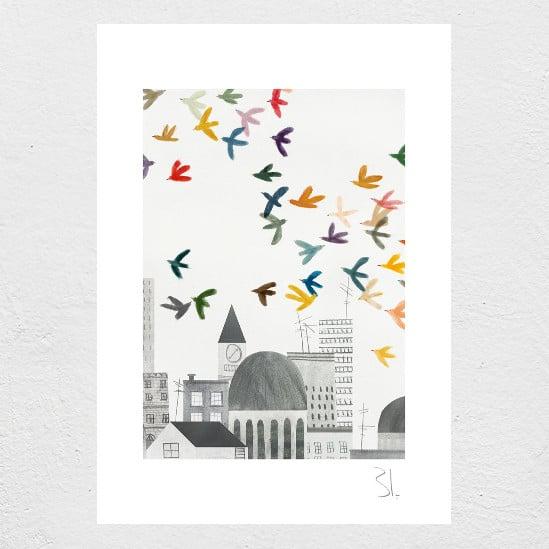 Image of Grey City print