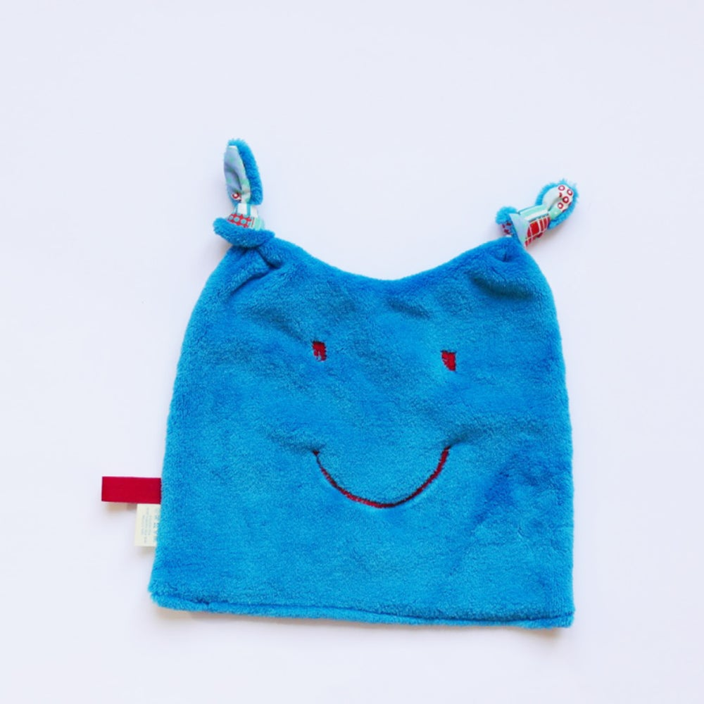 Image of Doudou Patchwork bleu /turquoise