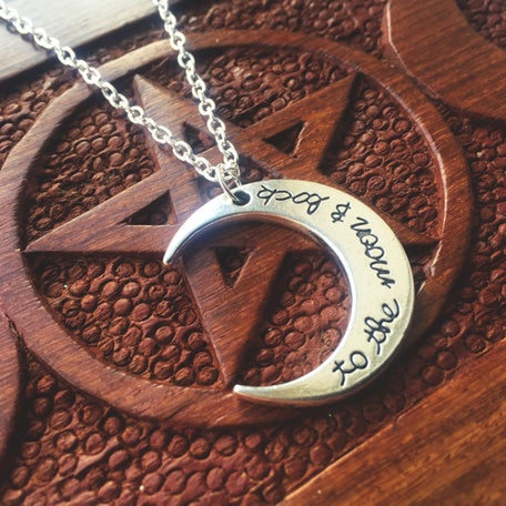 Image of To the moon and back necklace