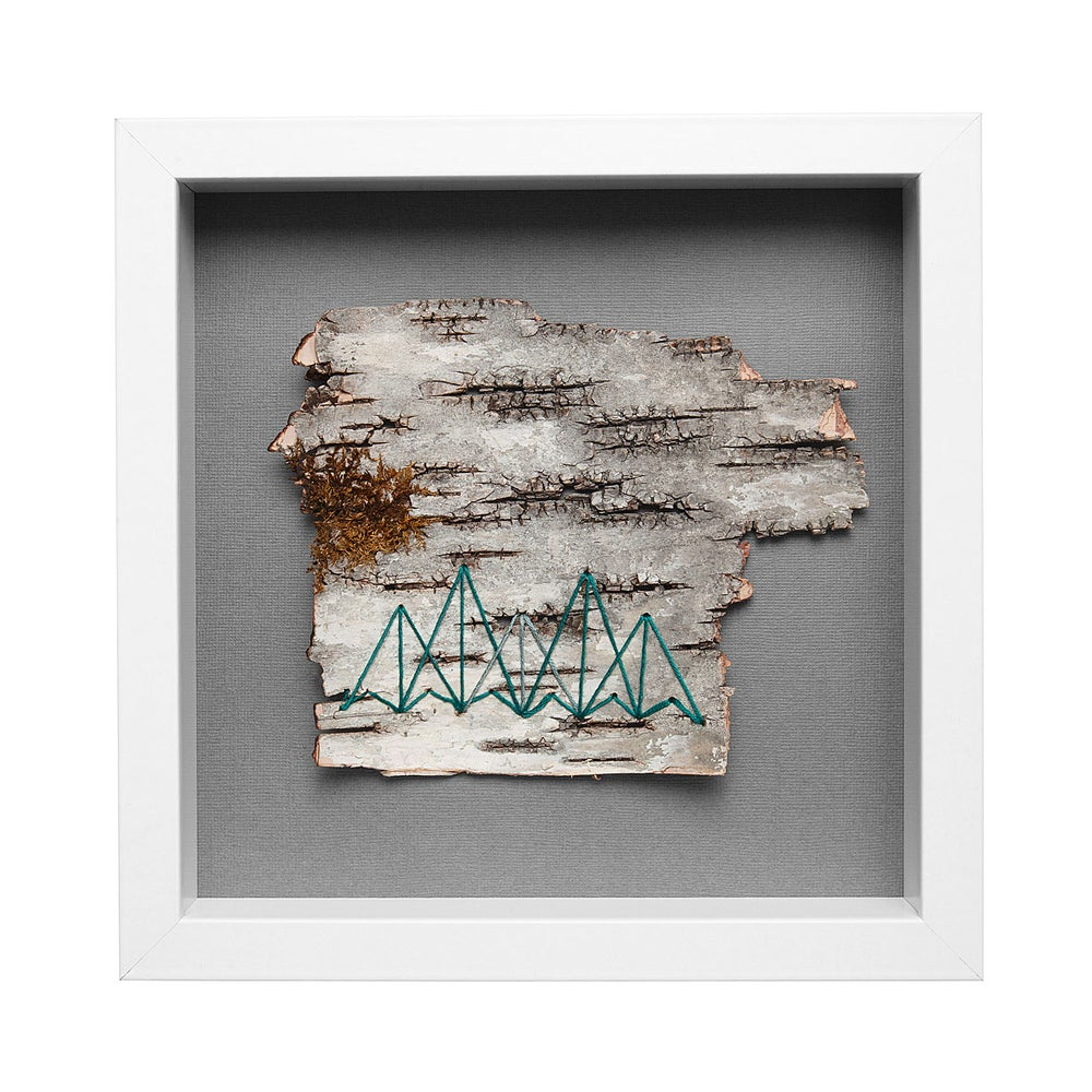 Image of EMBROIDERED BIRCH // WONDERMENT