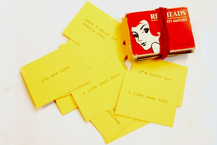 Image of Yellow pick up cards